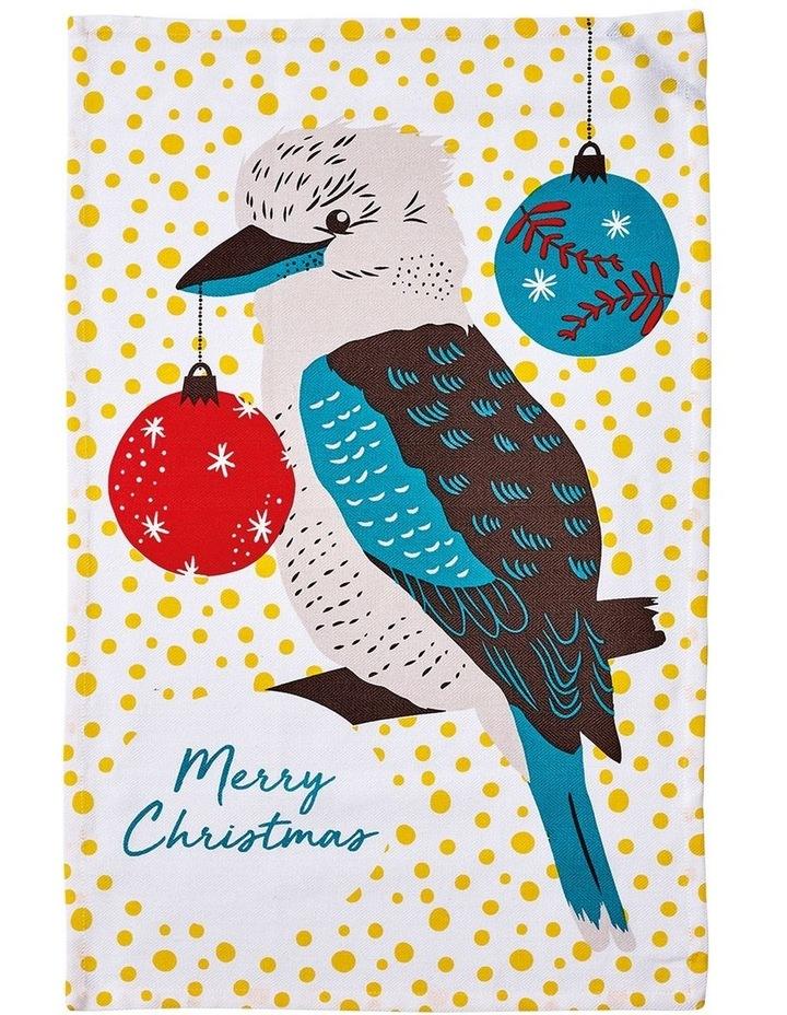 Birds of Christmas Kookaburra Kitchen Towel image 1