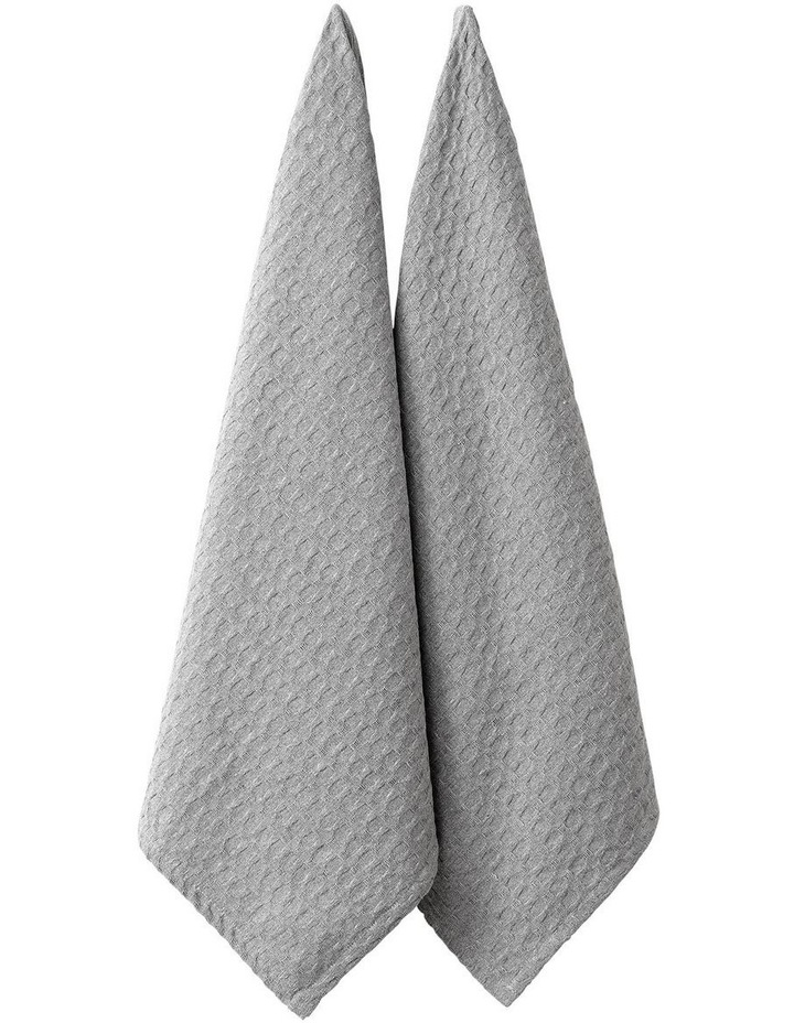 Eco Recycled Light Grey 2pk Kitchen Towel image 1