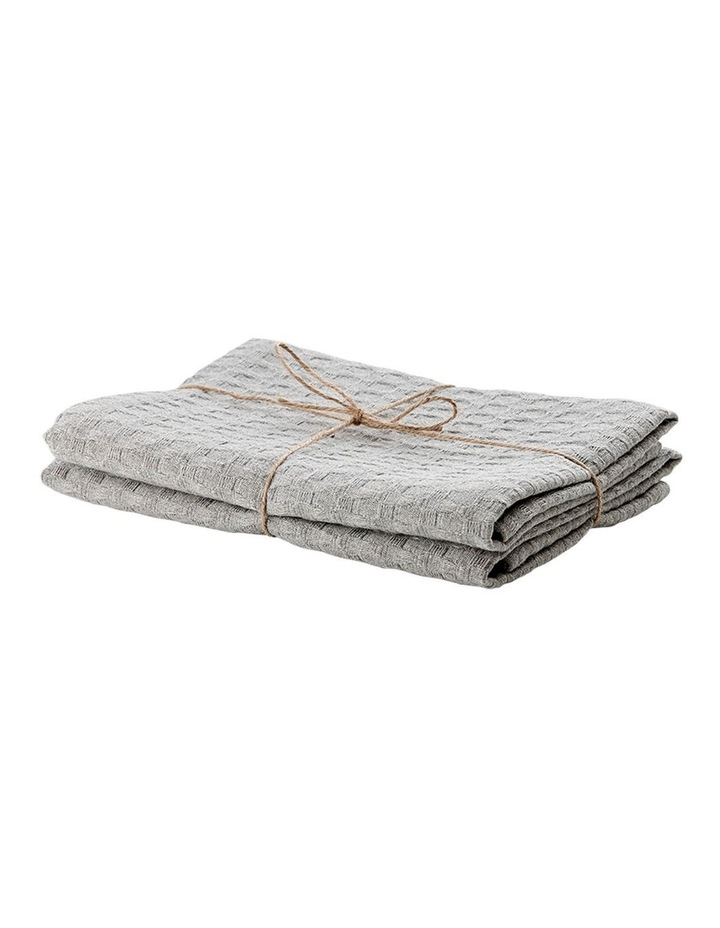 Eco Recycled Light Grey 2pk Kitchen Towel image 2