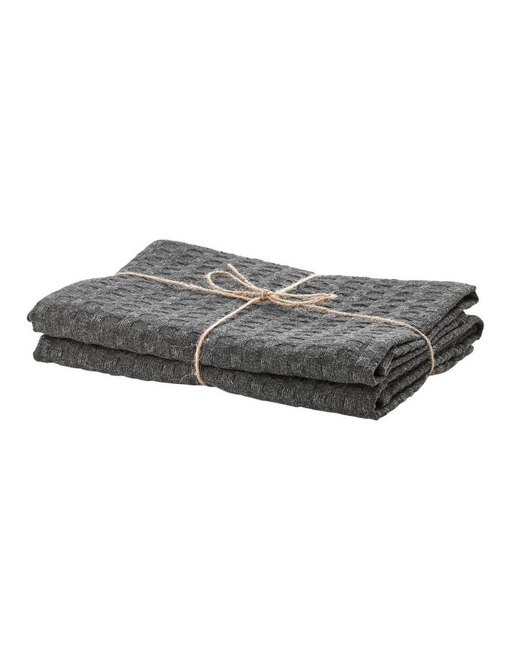 Eco Recycled Charcoal 2pk Kitchen Towel image 2