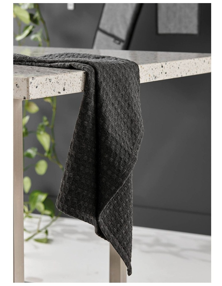 Eco Recycled Charcoal 2pk Kitchen Towel image 3