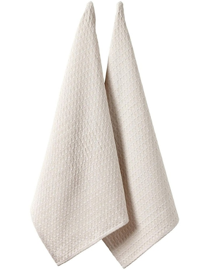 Eco Recycled Linen 2pk Kitchen Towel image 1