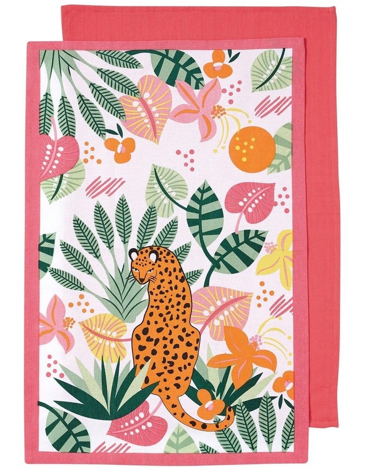 Arise Cheetah Pink 2pk Kitchen Towel image 1