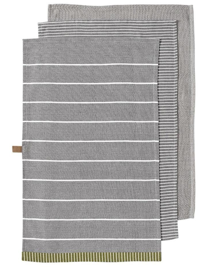 Biotic Woven Grey 3pk Kitchen Towel image 1