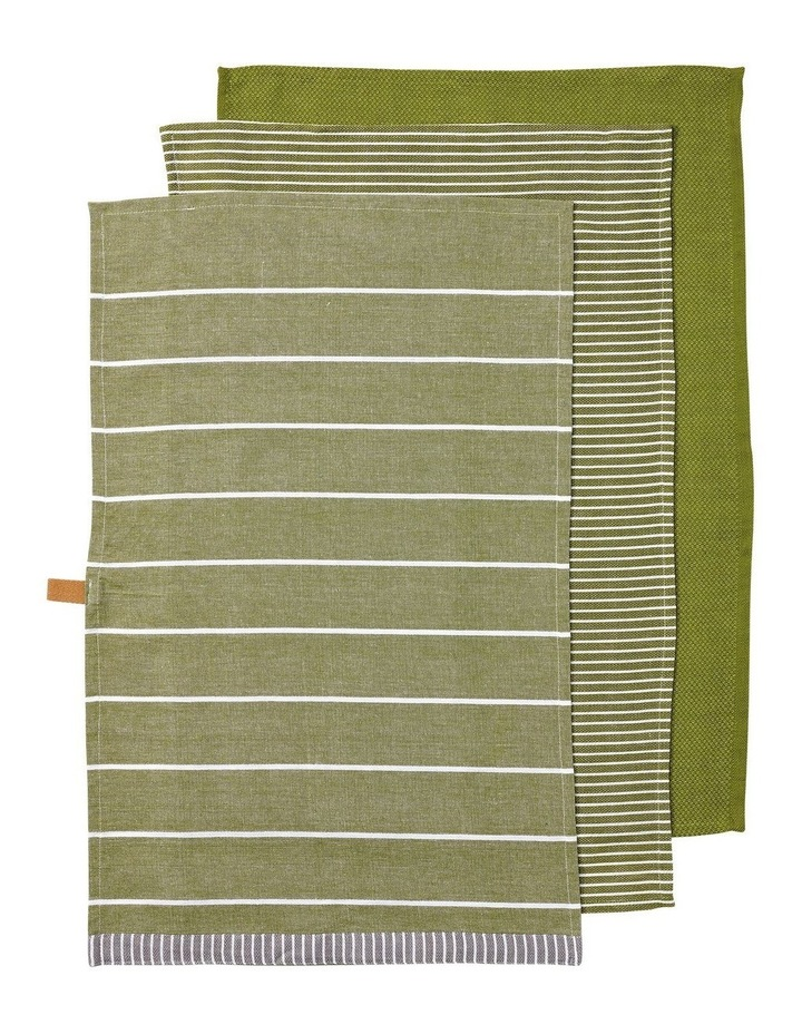 Biotic Woven Green 3pk Kitchen Towel image 1