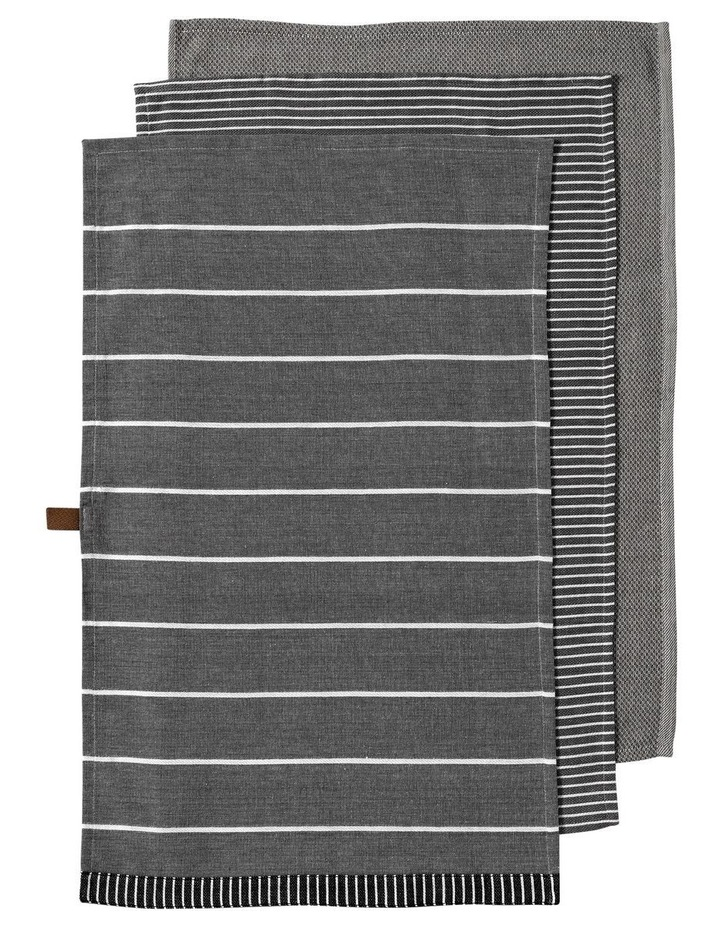 Biotic Woven Charcoal 3pk Kitchen Towel image 1