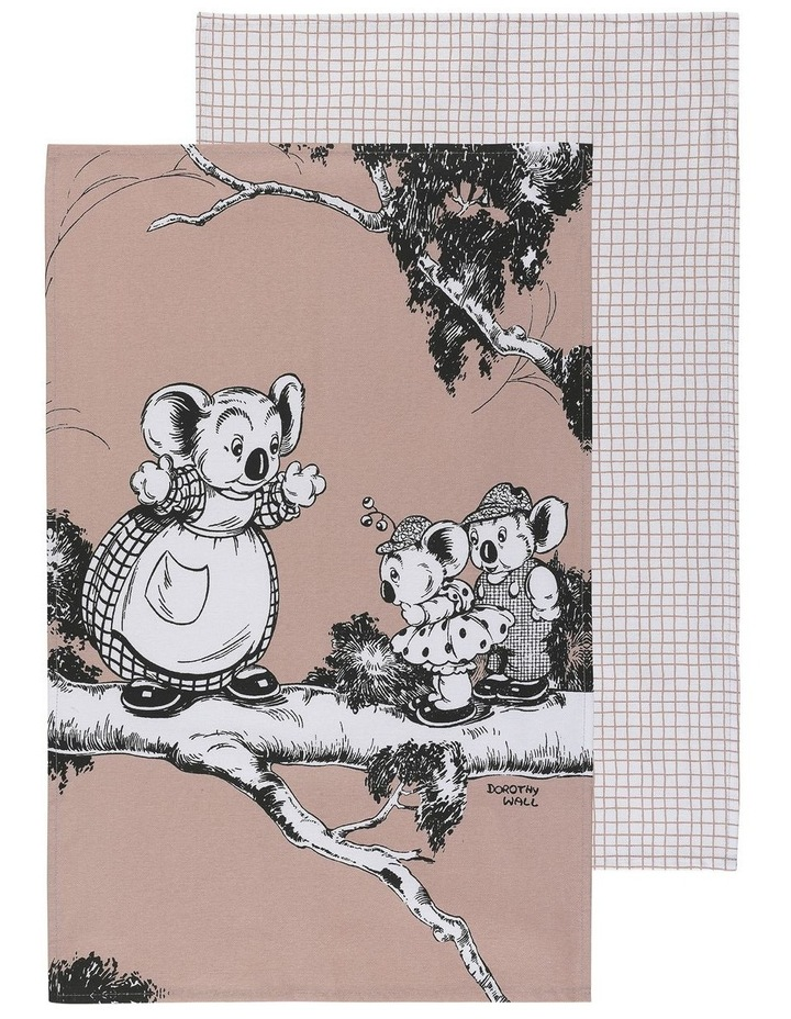 Blinky Bill Set of 2 Tea Towels - Coral image 1