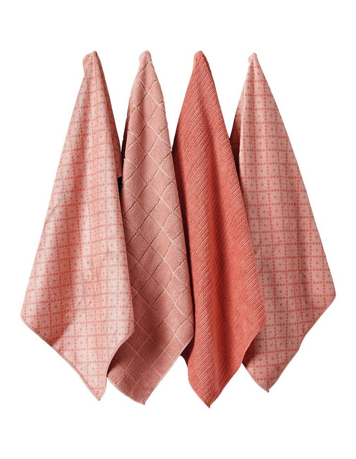 Carver Pink Microfibre 4pk Kitchen Towel image 1