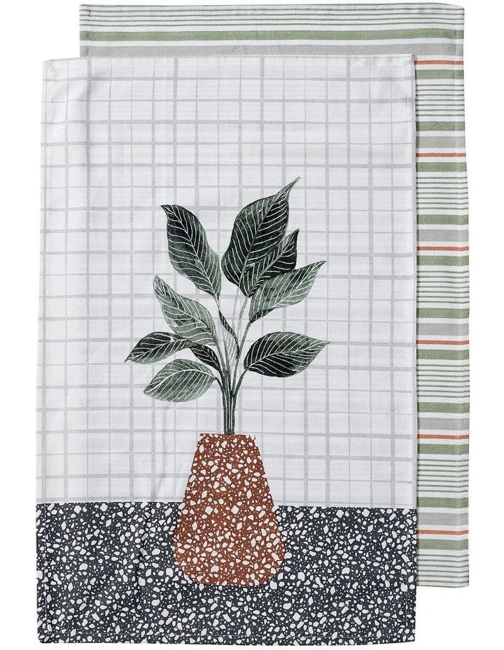 Revive Plants Leaf 2pk Kitchen Towel image 1