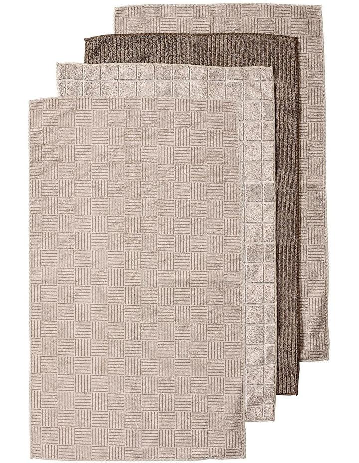 Benson Taupe Microfibre 4pk Kitchen Towel image 1