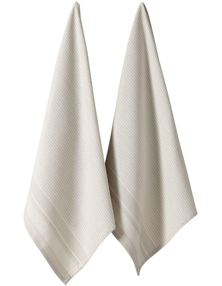 Mason Tea Towel 2Pk Vanilla image 1