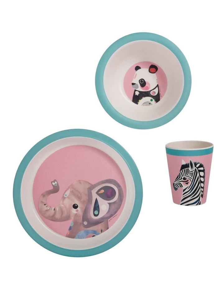 Pete Cromer Wildlife Children's 3pc Dinner Set Elephant image 1