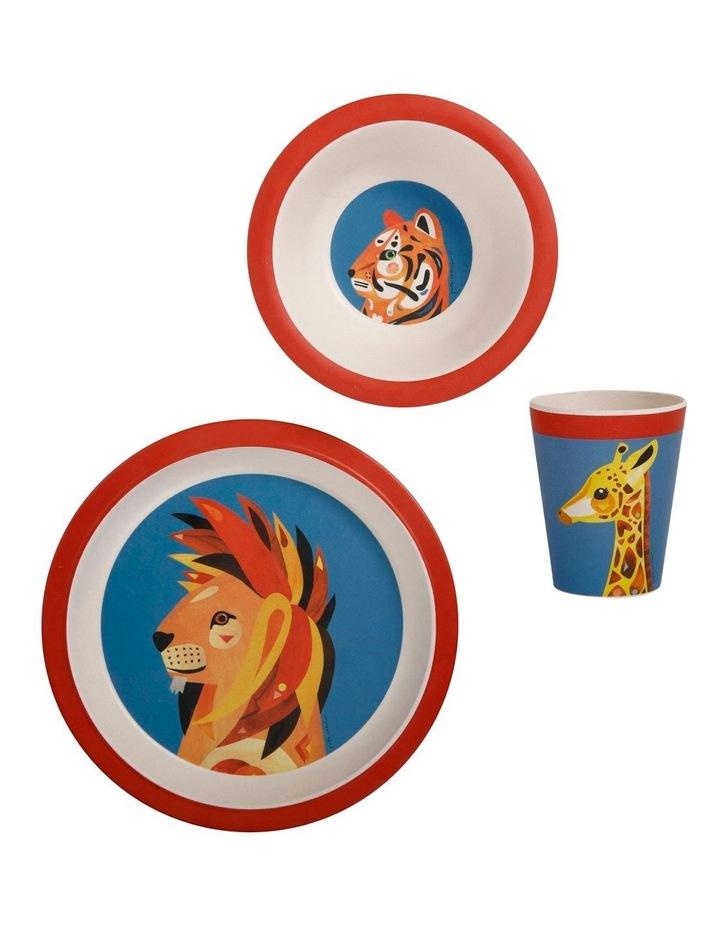 Pete Cromer Wildlife Children's 3pc Dinner Set Lion image 1