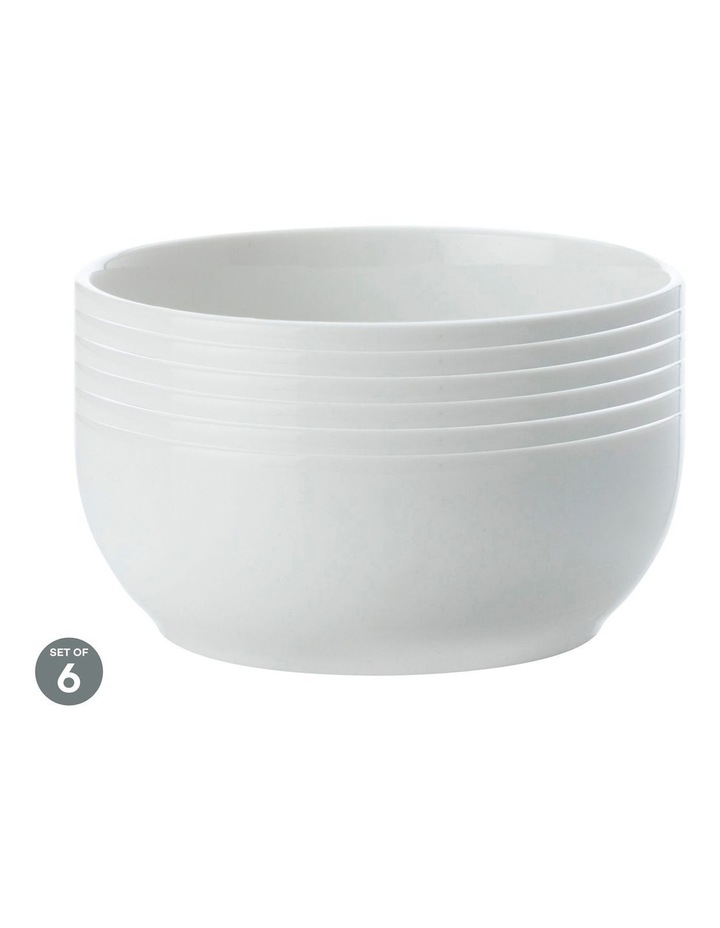 White Basics Nut Bowl 11.5cm Set of 6 image 1
