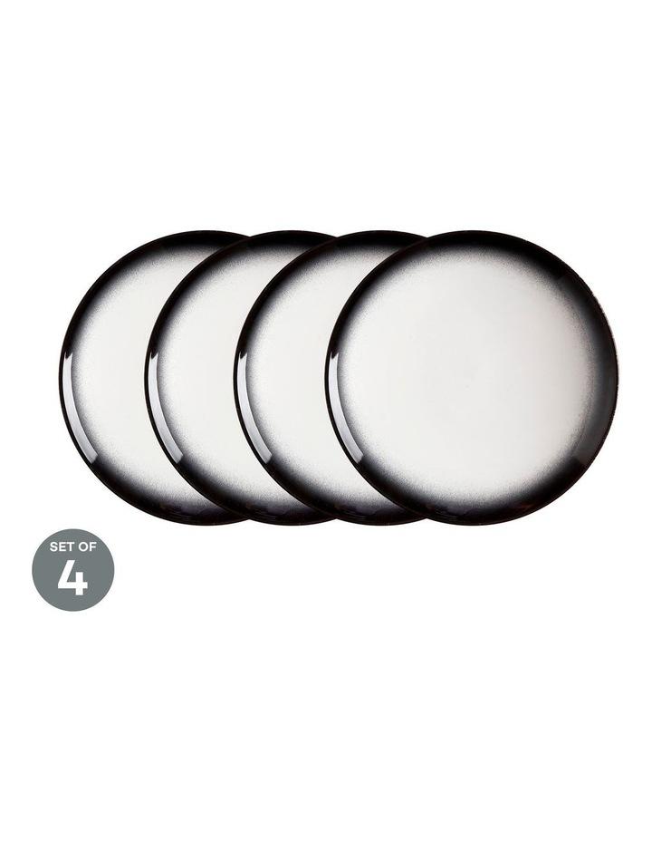 Caviar Granite Coupe Plate 20cm Set of 4 image 1