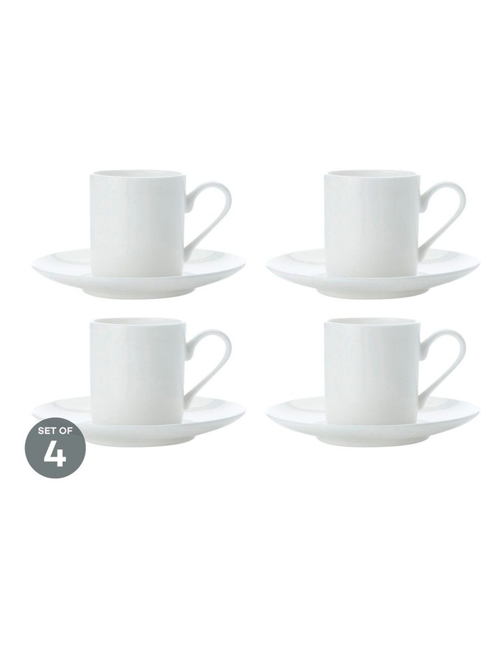 Cashmere Straight Demi Cup 100ML & Saucer Set of 4 image 1