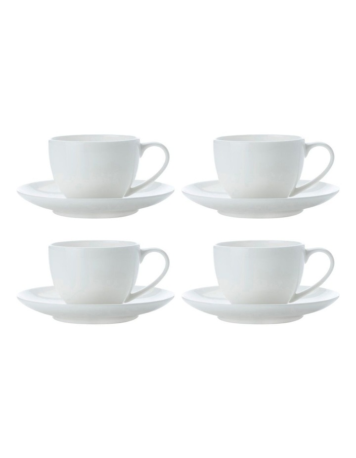 Cashmere Round Demi Cup 100ML & Saucer Set of 4 image 1