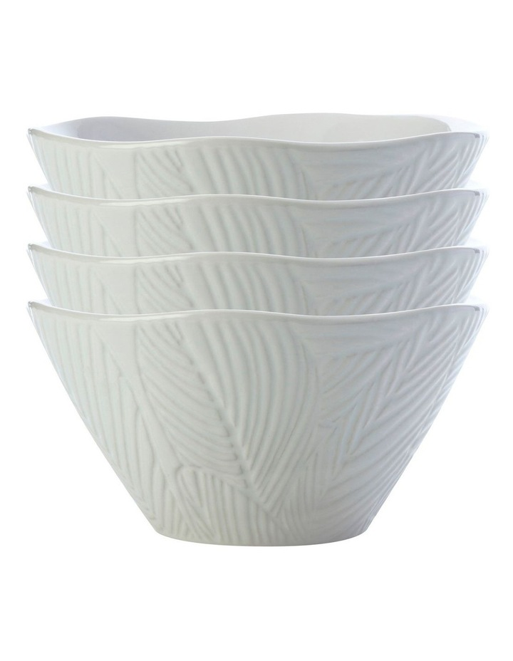 Panama Conical Bowl 15cm White Set of 4 image 1