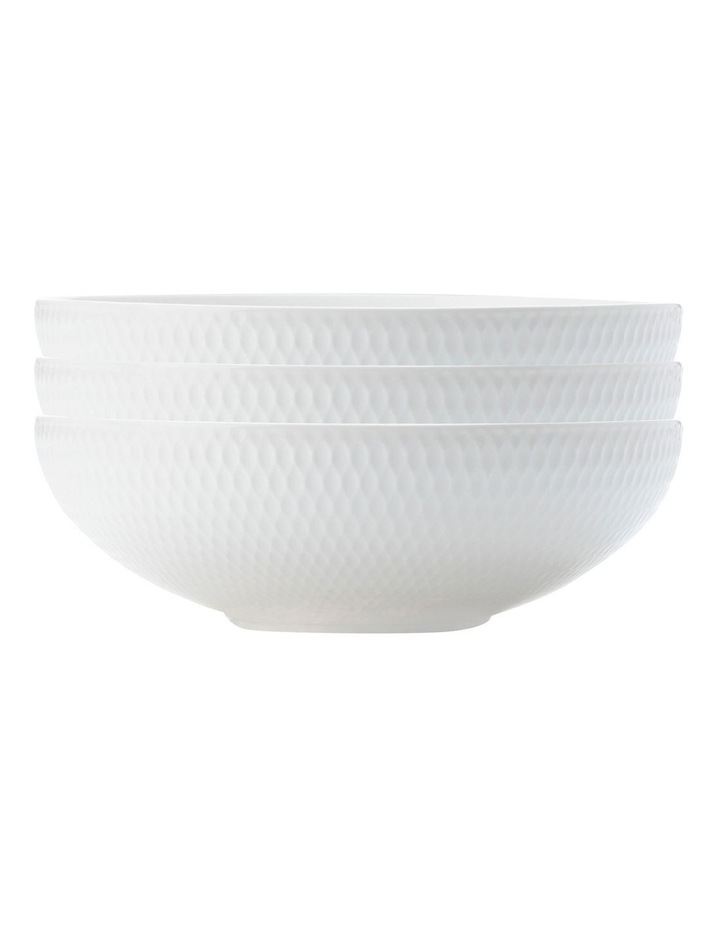 White Basics Diamonds Coupe Bowl 18.5cm Set of 3 image 1