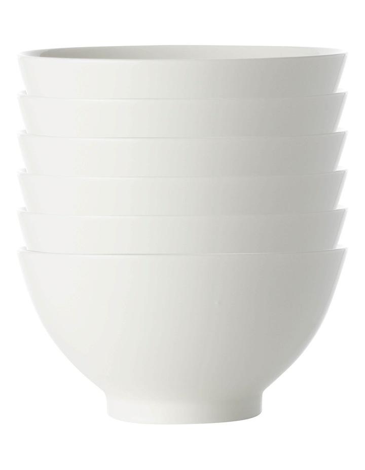 White Basics Rice Bowl 15cm Set of 6 image 1