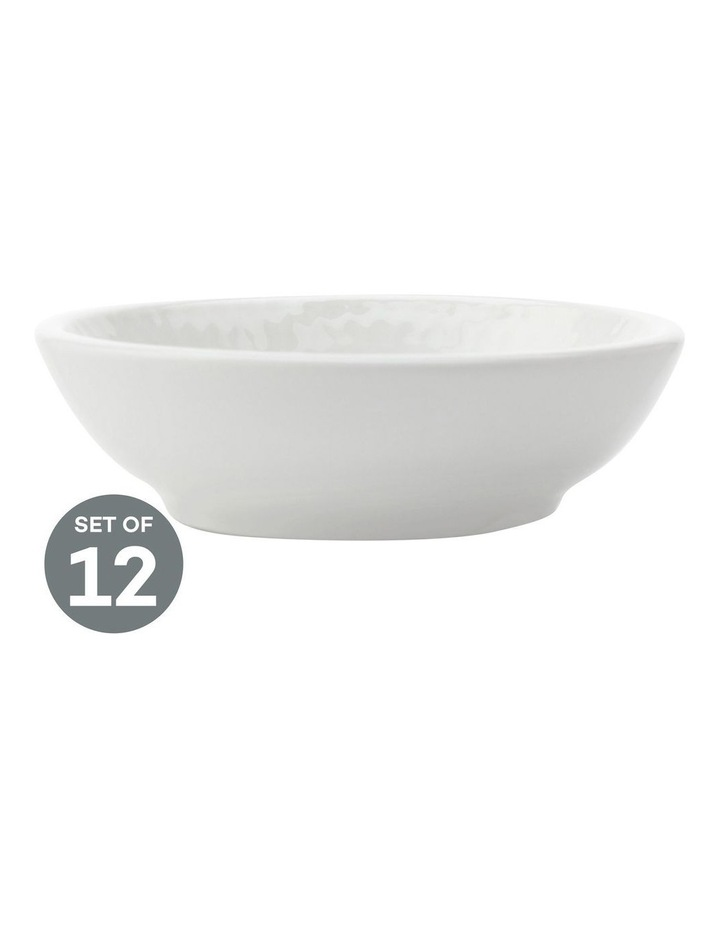 White Basics Diamonds Sauce Dish 7cm Set of 12 image 1
