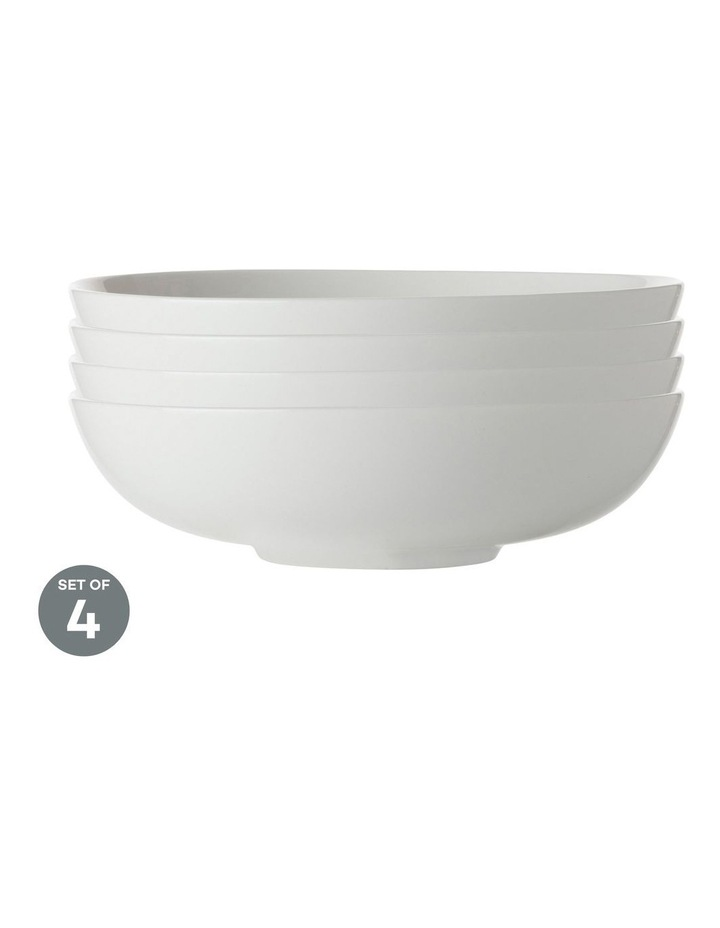 White Basics Coupe Bowl Shallow 18.5cm Set of 4 image 1