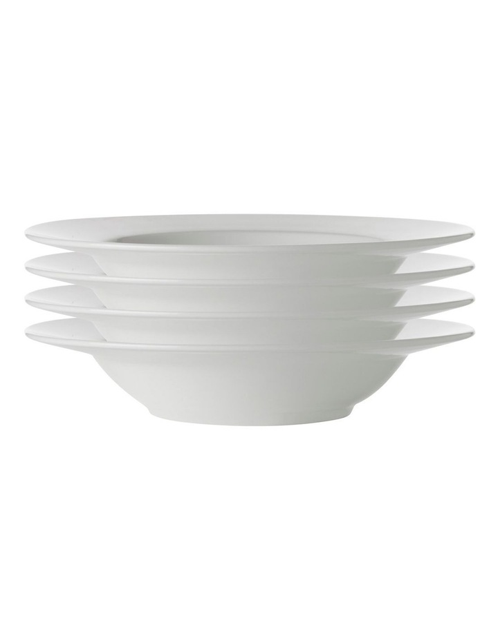 White Basics Rim Soup Bowl 23cm Set of 4 image 1