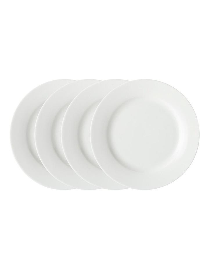 White Basics Rim Side Plate 19cm Set of 4 image 1