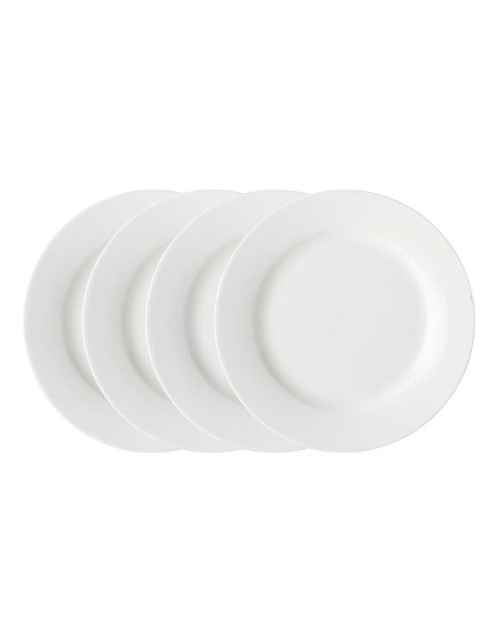 White Basics Rim Entree Plate 23cm Set of 4 image 1