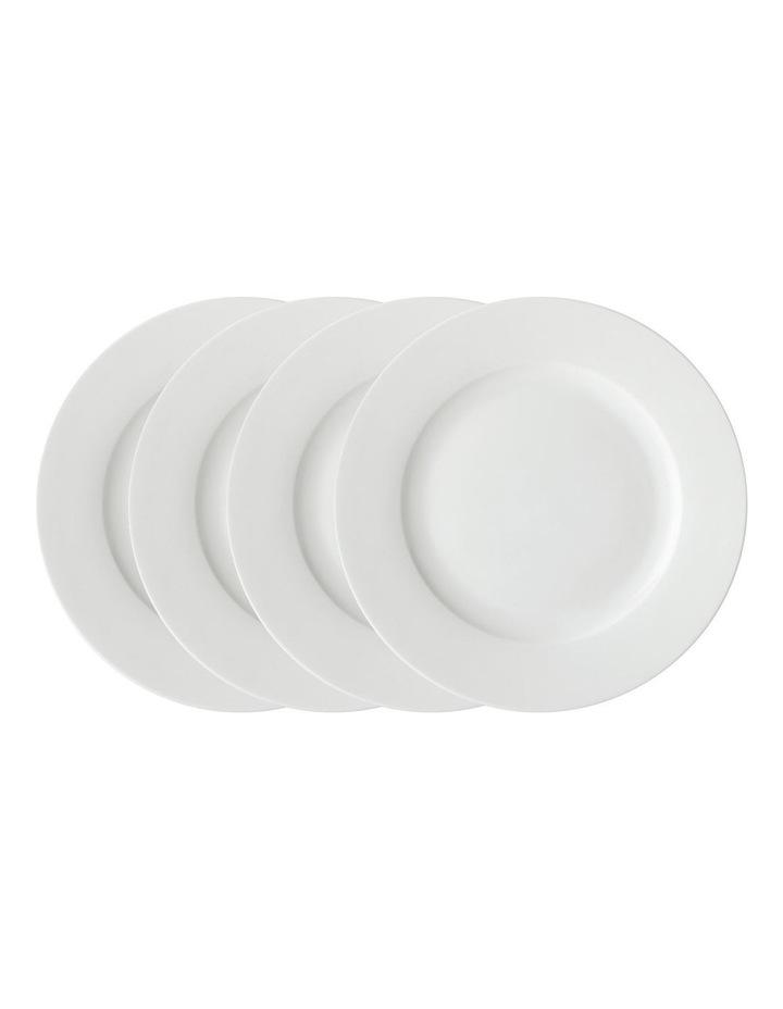 White Basics Rim Dinner Plate 27.5cm Set of 4 image 1