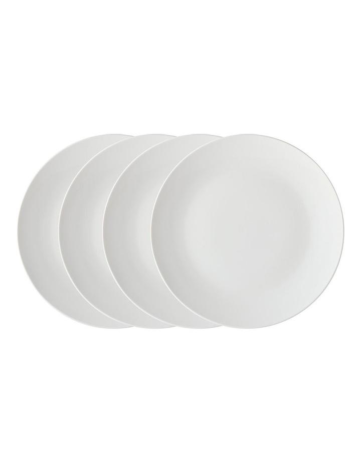 White Basics Coupe Entree Plate 23cm Set of 4 image 1