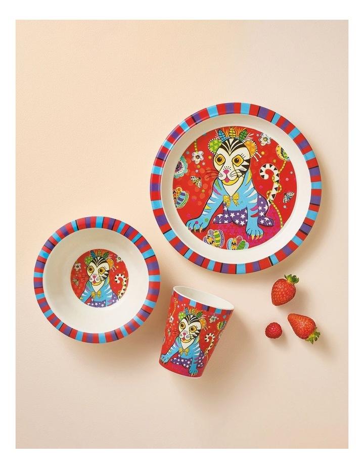 Donna Sharam Rainbow Jungle Children's Bamboo Tiggy & Tiny 3pc Dinner Set Gift Boxed image 2
