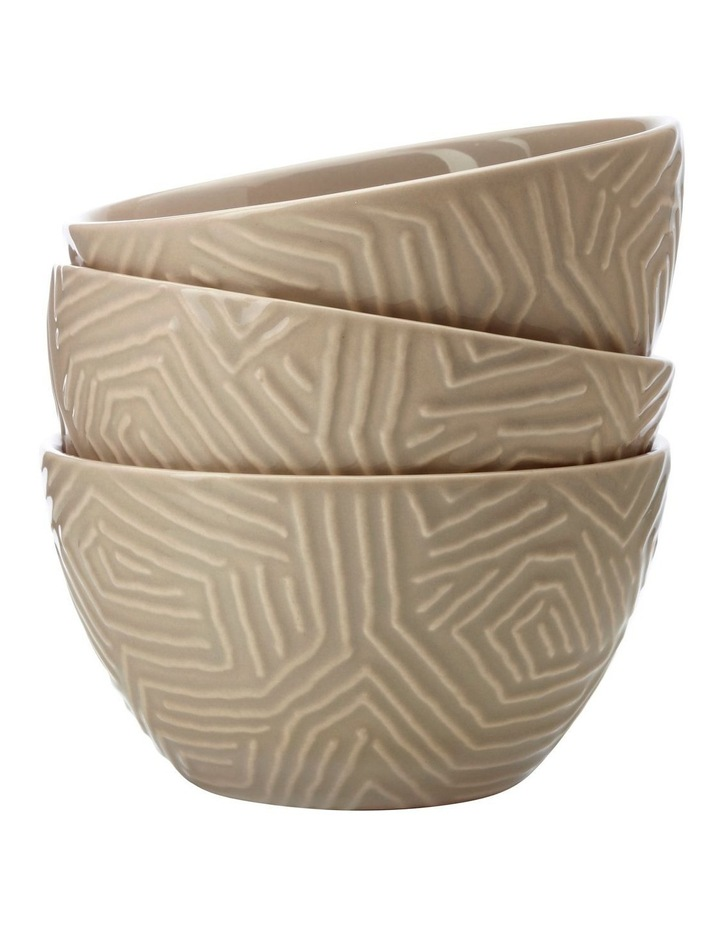Dune Set Of 3 Bowls Taupe Gift Boxed image 2