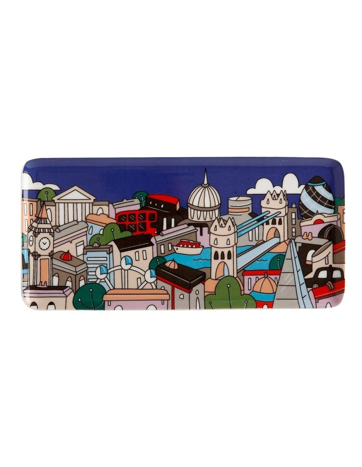 Megan McKean Cities Rectangle Plate 25x12cm London Gift Boxed image 1