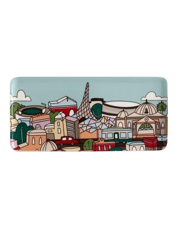 Megan McKean Cities Rectangle Plate 25x12cm Melbourne Gift Boxed image 1
