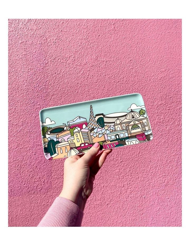 Megan McKean Cities Rectangle Plate 25x12cm Melbourne Gift Boxed image 2