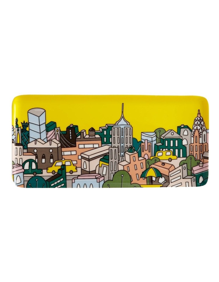 Megan McKean Cities Rectangle Plate 25x12cm New York Gift Boxed image 1