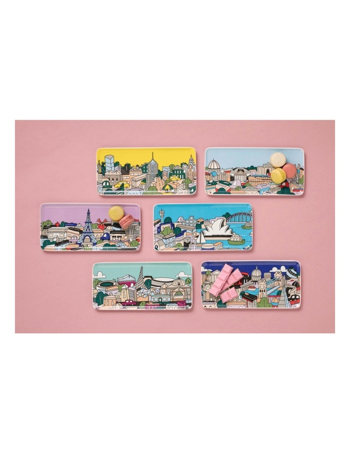 Megan McKean Cities Rectangle Plate 25x12cm New York Gift Boxed image 2