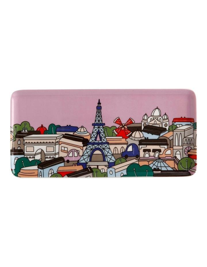 Megan McKean Cities Rectangle Plate 25x12cm Paris Gift Boxed image 1