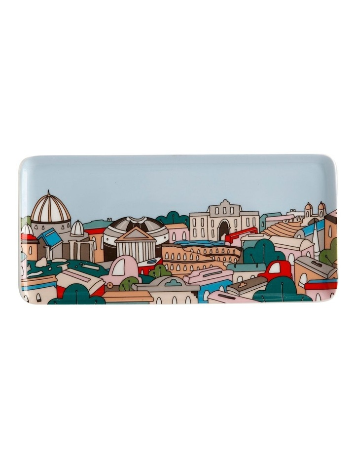 Megan McKean Cities Rectangle Plate 25x12cm Rome Gift Boxed image 1