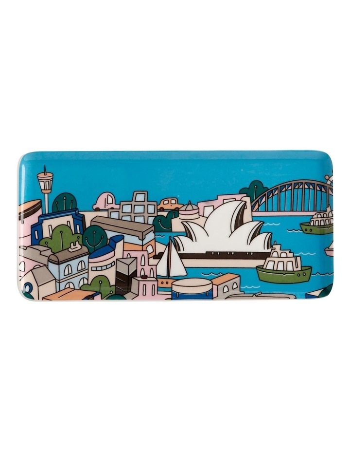 Megan McKean Cities Rectangle Plate 25x12cm Sydney Gift Boxed image 1