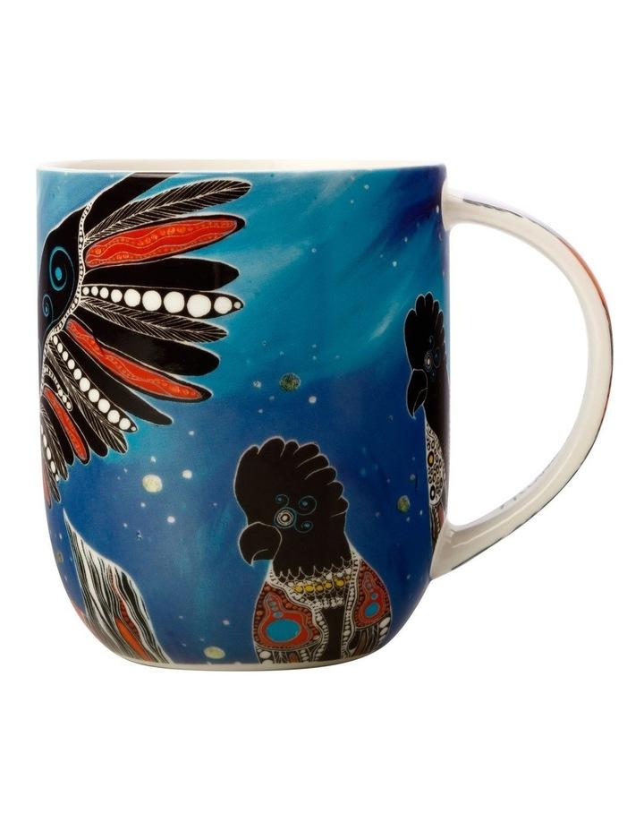 Melanie Hava Jugaig-Bana-Wabu Mug 440ML Black Cockatoos Gift Boxed image 1