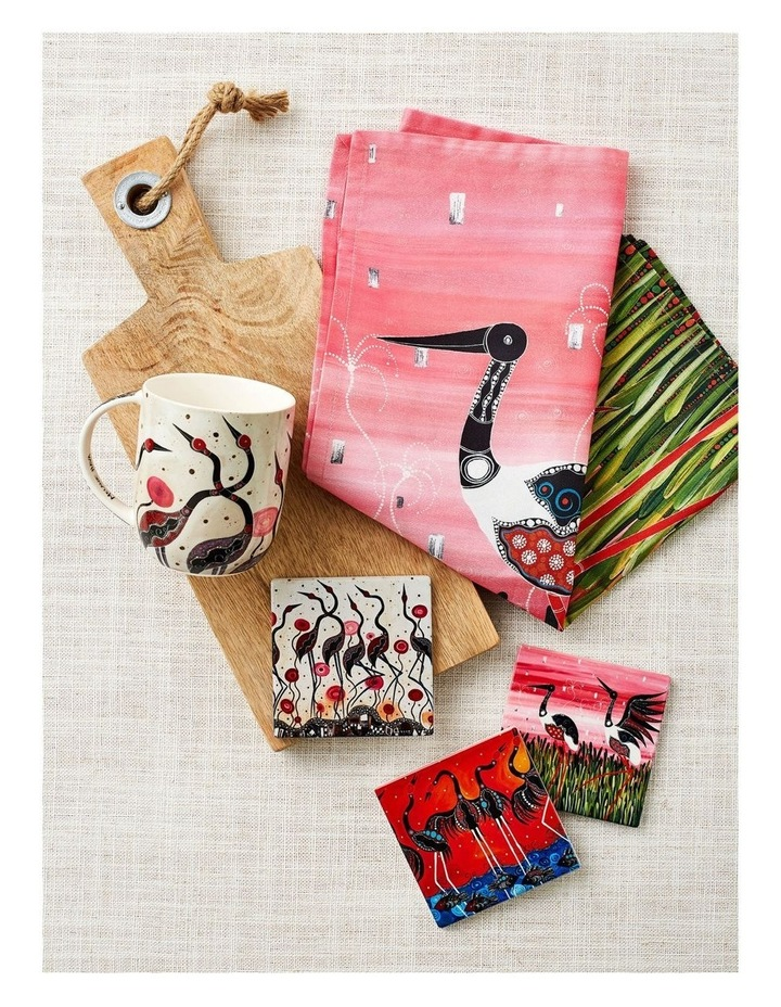 Melanie Hava Jugaig-Bana-Wabu Mug 440ML Brolgas Gift Boxed image 4