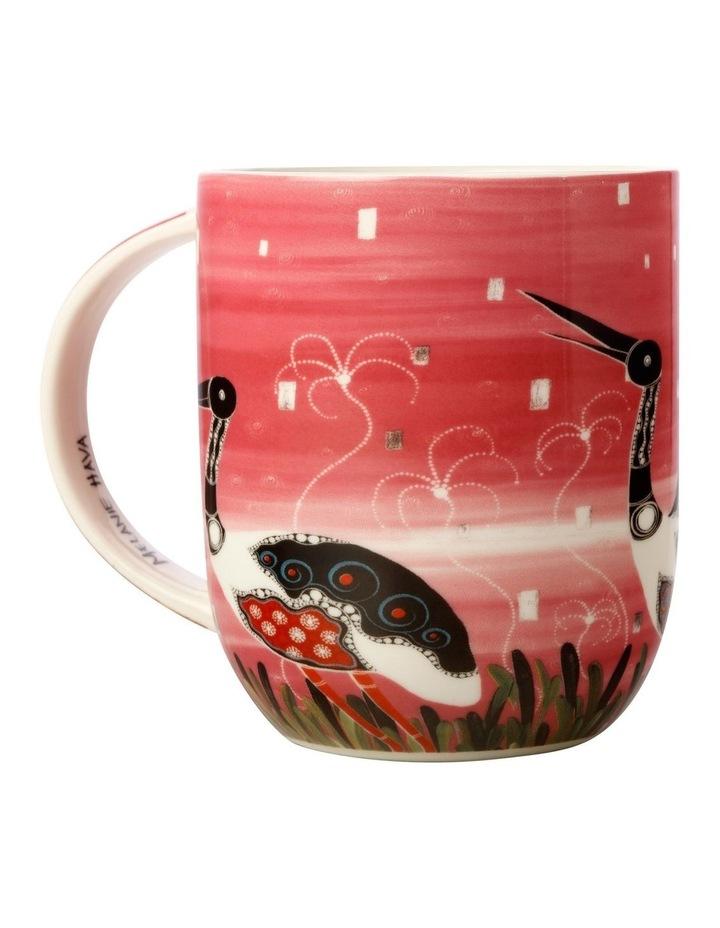 Melanie Hava Jugaig-Bana-Wabu Mug 440ML Jabirus Pink Gift Boxed image 3