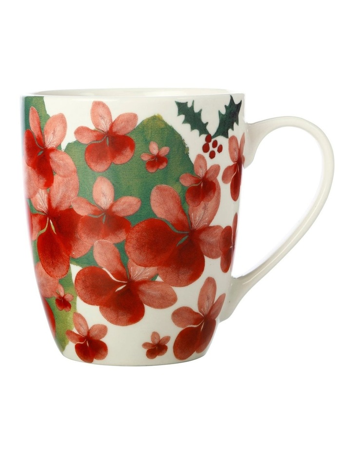 Poinsettia Coupe Mug 350ML Geranium Gift Boxed image 1
