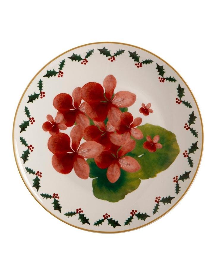 Poinsettia Plate 20cm Geranium Gift Boxed image 1
