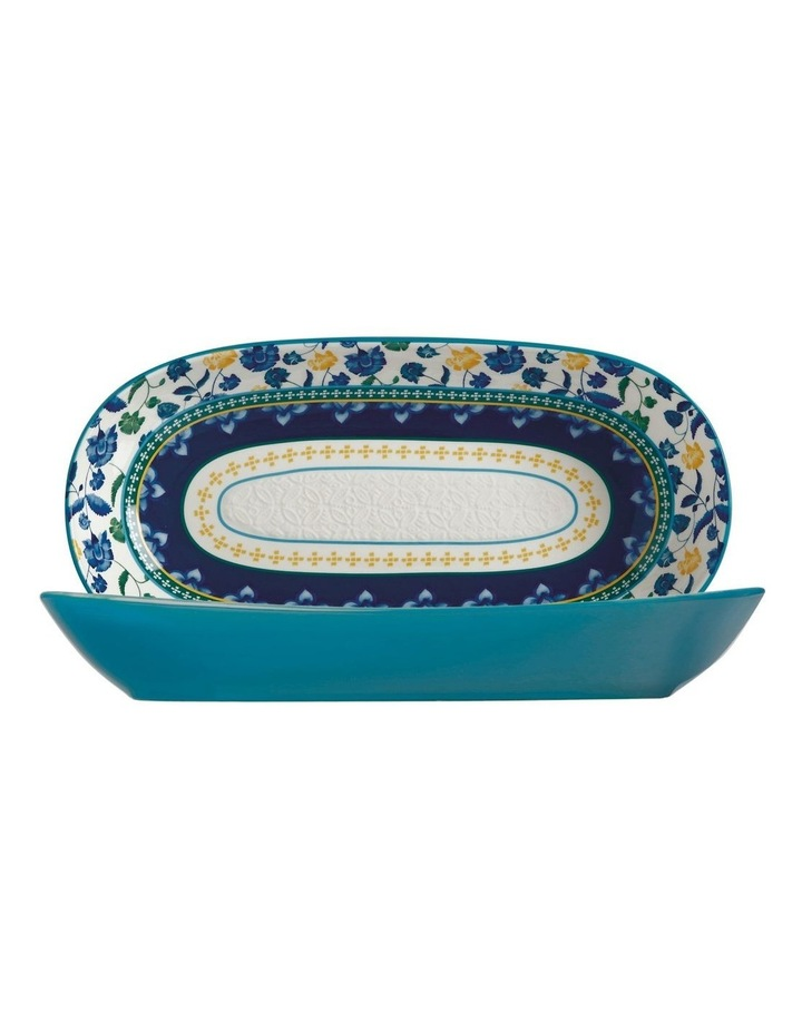 Rhapsody Oblong Bowl 43x22cm Blue Gift Boxed image 1