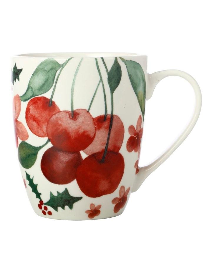 Poinsettia Coupe Mug 350ML Cherry Gift Boxed image 1