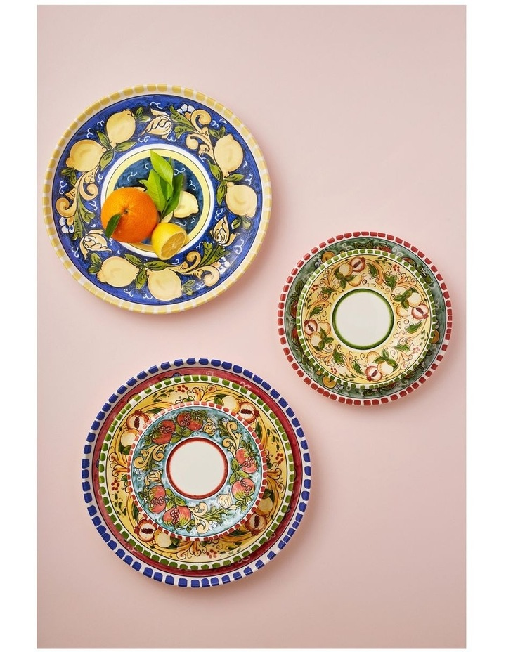 Ceramica Salerno 21cm Pasta Bowl in Pomegranates Print image 3