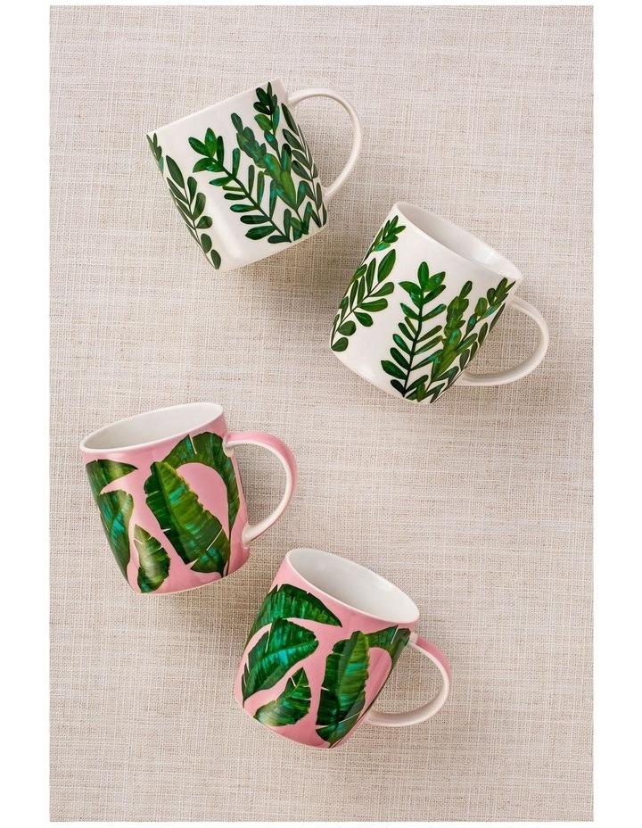 Haven Banana Leaf Mug 380ML Set of 2 Pink Gift Boxed image 2